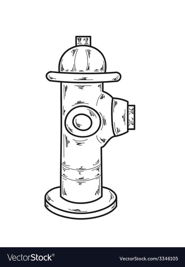 Sketch fire hydrant vector | Price: 1 Credit (USD $1)