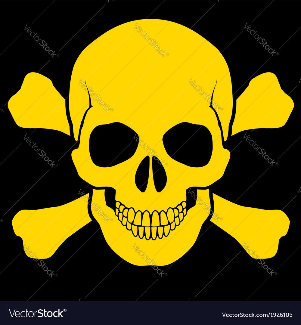 Skull and crossbones vector | Price: 1 Credit (USD $1)
