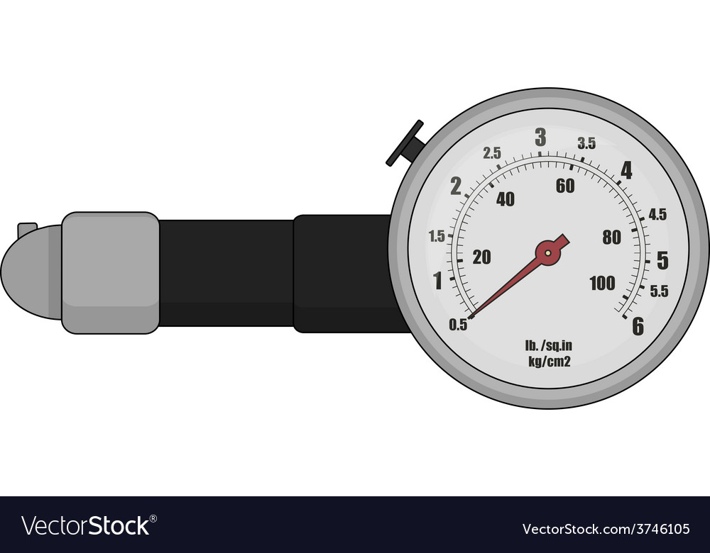 Tire pressure gauge color vector | Price: 1 Credit (USD $1)