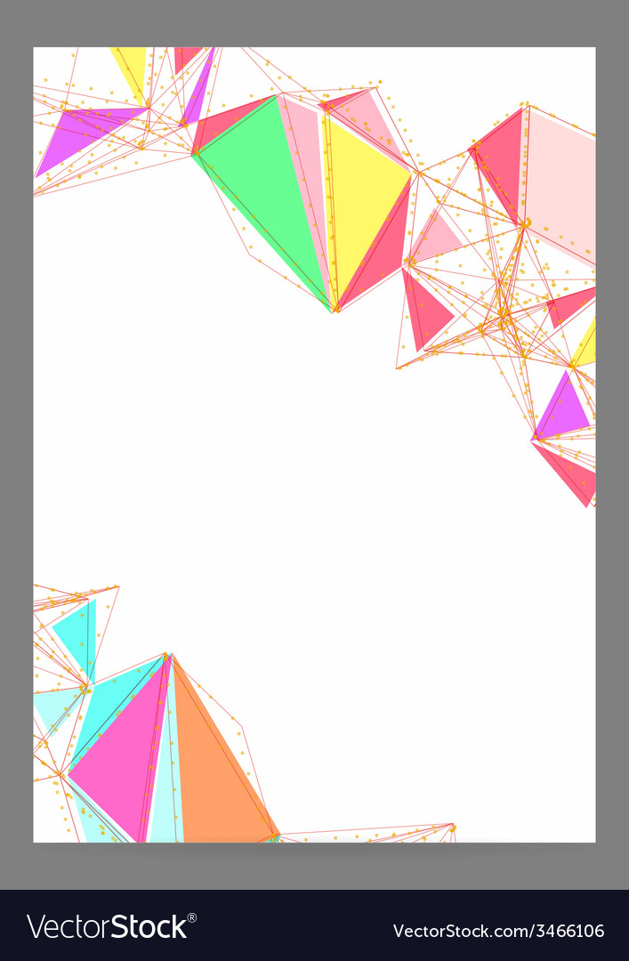 Abstract triangle geometric brochure template vector | Price: 1 Credit (USD $1)