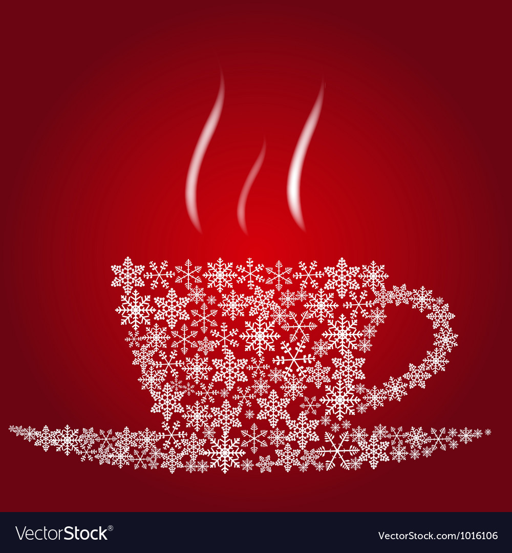 Christmas coffee cup vector | Price: 1 Credit (USD $1)