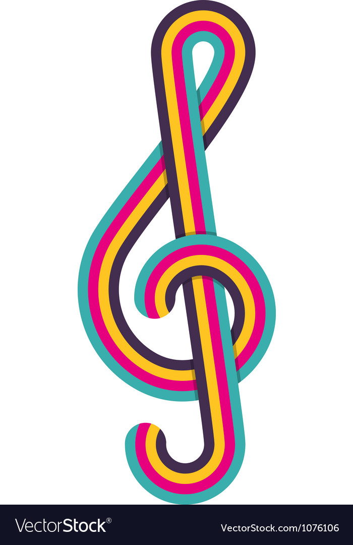 Cmyk treble clef vector | Price: 1 Credit (USD $1)