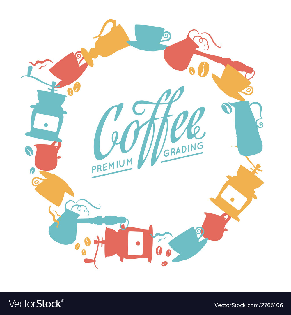Coffee composition vector   Price: 1 Credit (USD $1)