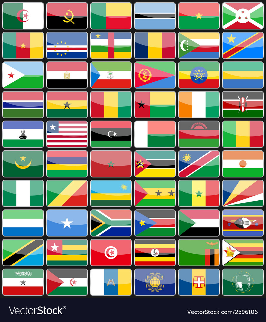 Elements design icons flags of the countries of af vector | Price: 1 Credit (USD $1)