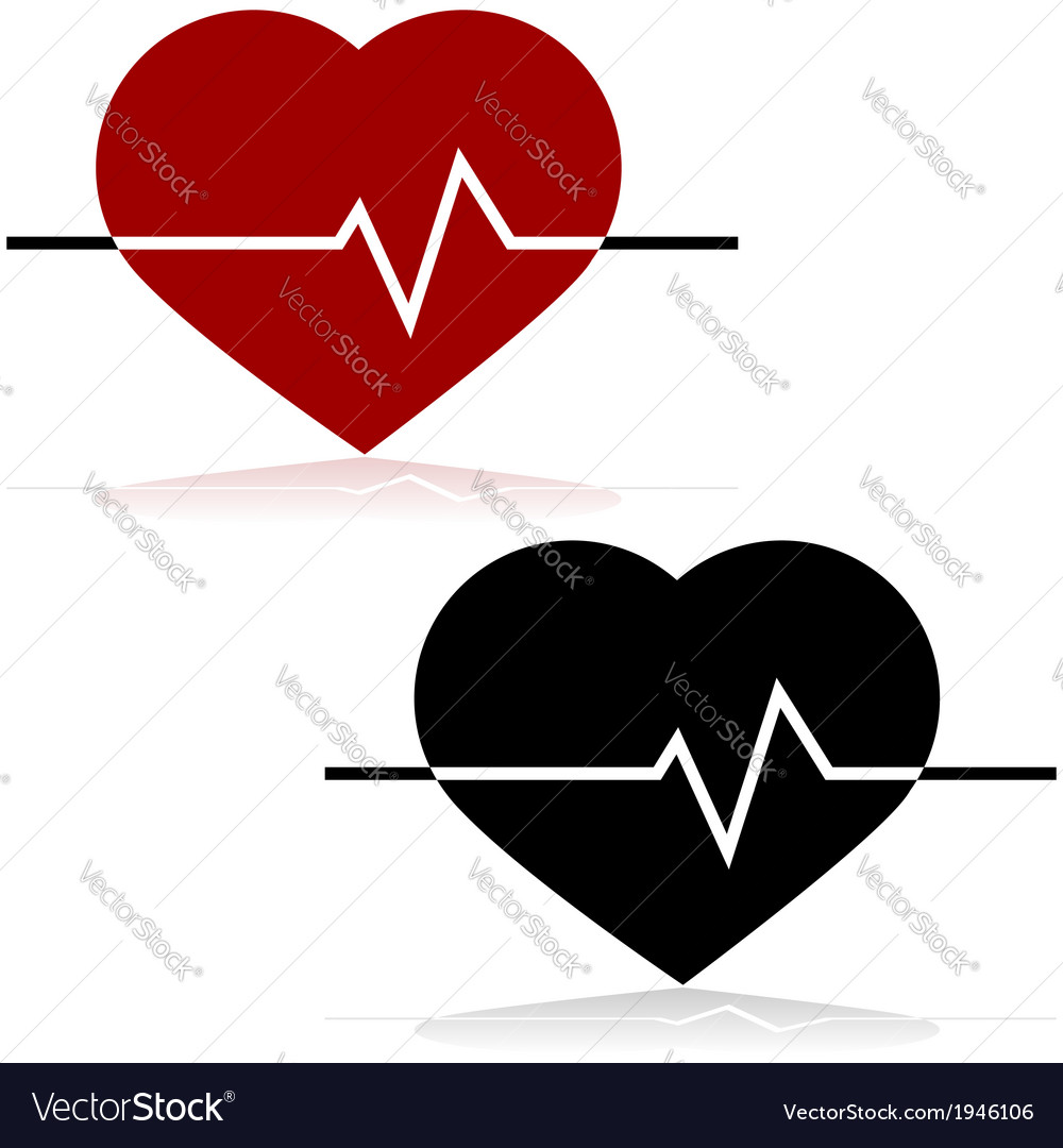 Heart rate vector | Price: 1 Credit (USD $1)