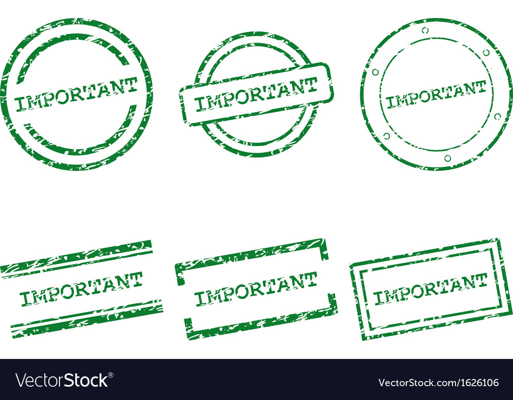 Important stamps vector | Price: 1 Credit (USD $1)