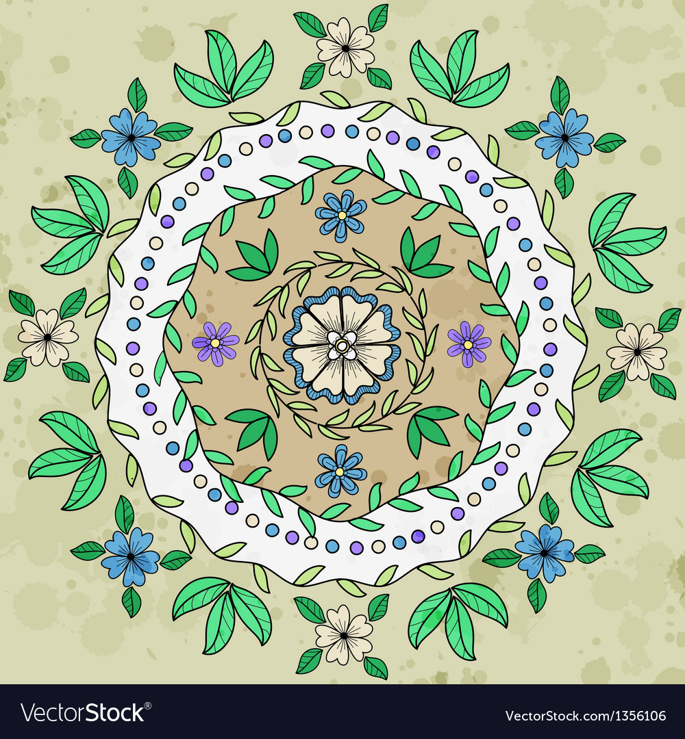 Ornamental floral round pattern vector | Price: 1 Credit (USD $1)