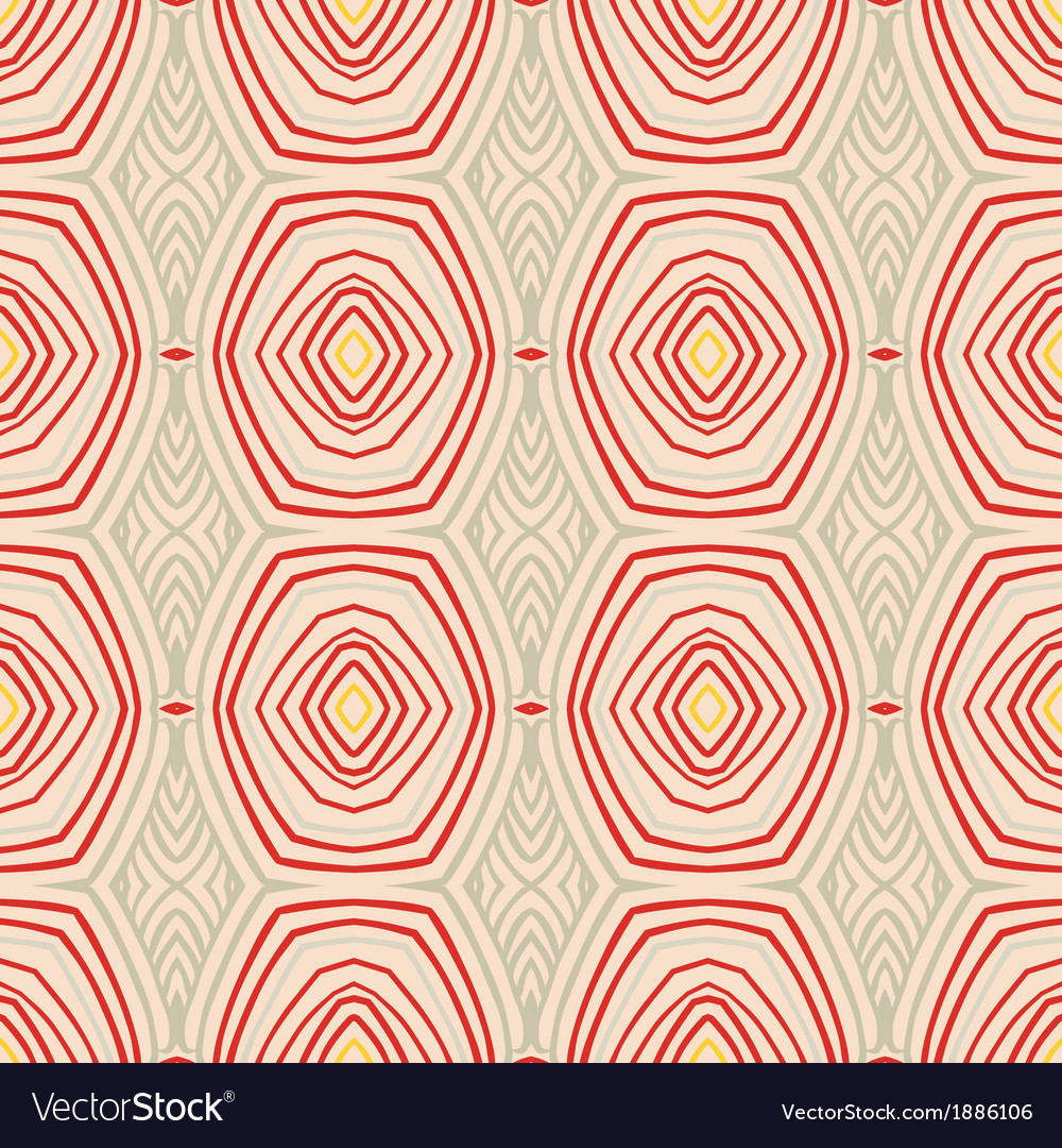 Retro pattern with oval shapes in 1950s style vector | Price: 1 Credit (USD $1)