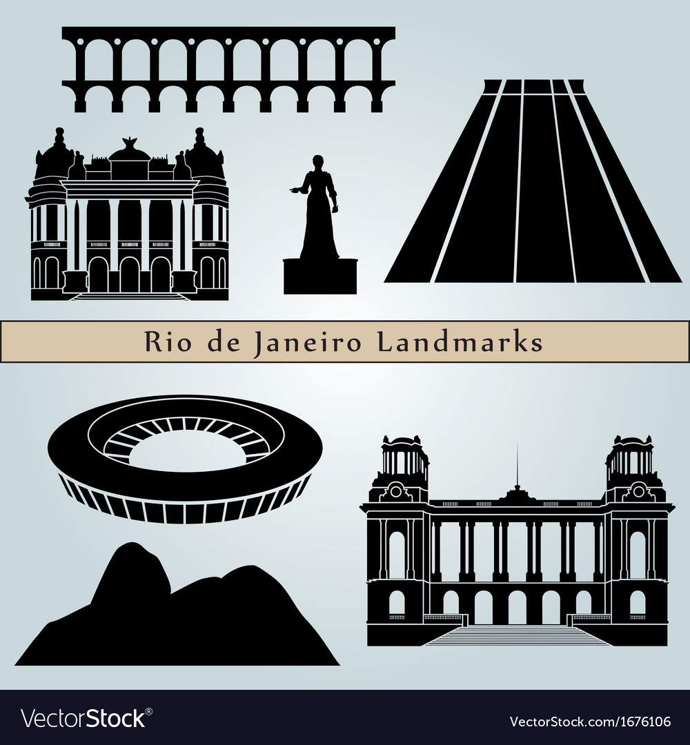 Rio de janeiro landmarks and monuments vector | Price: 1 Credit (USD $1)