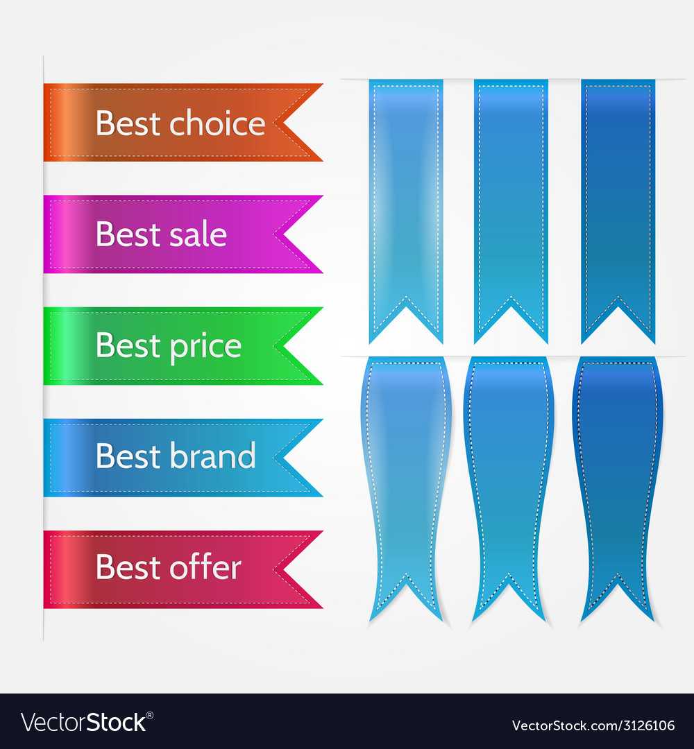 Set of sale ribbons vector | Price: 1 Credit (USD $1)