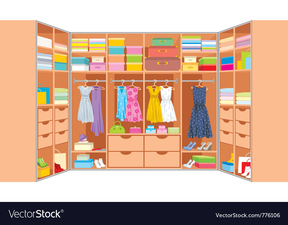 Wardrobe room vector | Price: 3 Credit (USD $3)