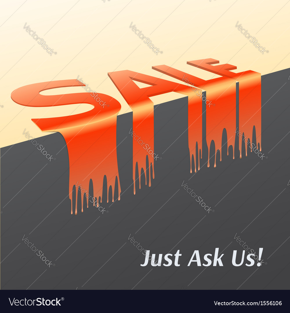 Word sale melted dripping promotional poster for vector | Price: 1 Credit (USD $1)