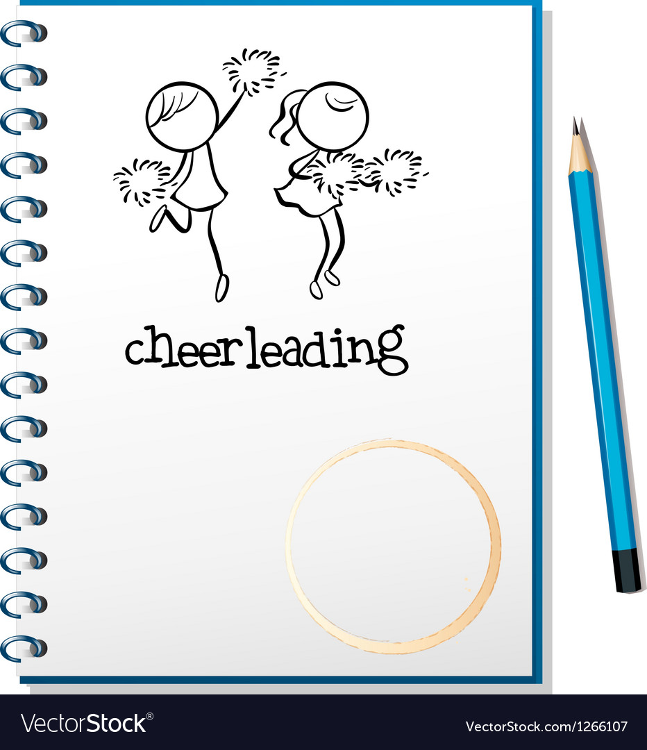 A notebook with a cheerleading design vector | Price: 1 Credit (USD $1)