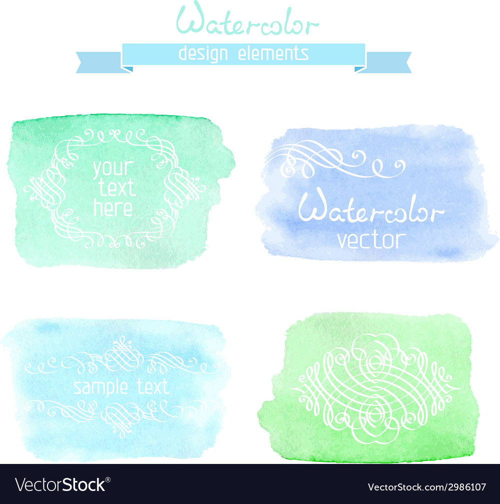 Abstract hand-drawn watercolor backgrounds vector   Price: 1 Credit (USD $1)