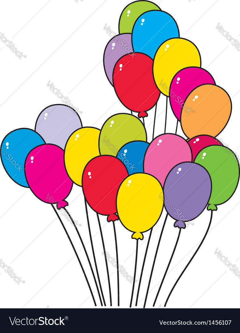 Bright colorful balloons vector | Price: 1 Credit (USD $1)