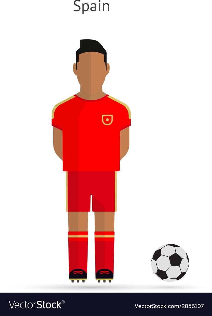 National football player spain soccer team uniform vector | Price: 1 Credit (USD $1)