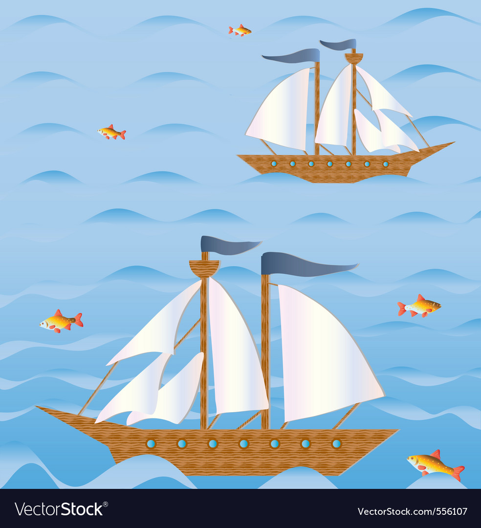 Sailing vessels vector | Price: 1 Credit (USD $1)