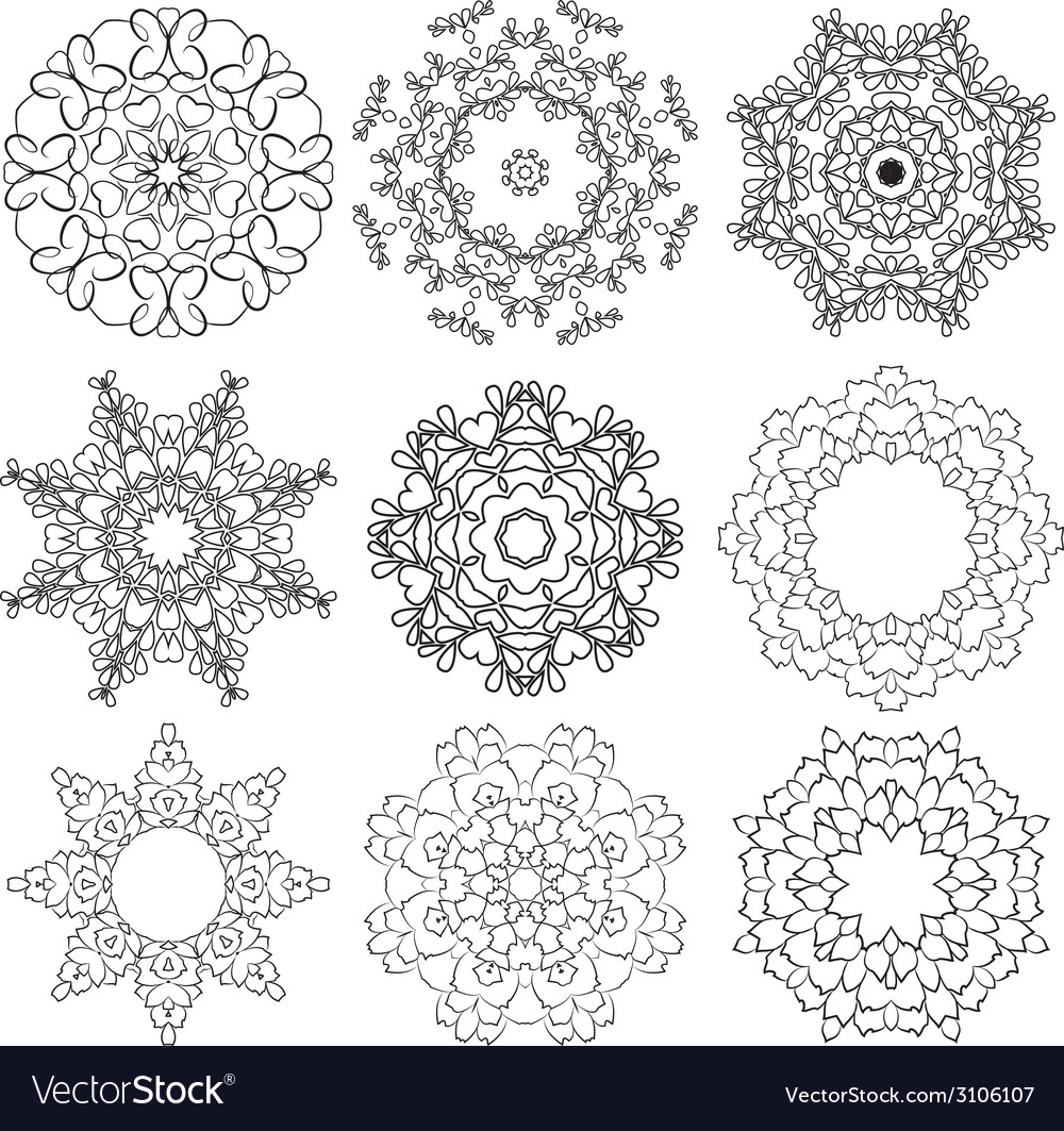 Set circle 1color 6 380 vector | Price: 1 Credit (USD $1)