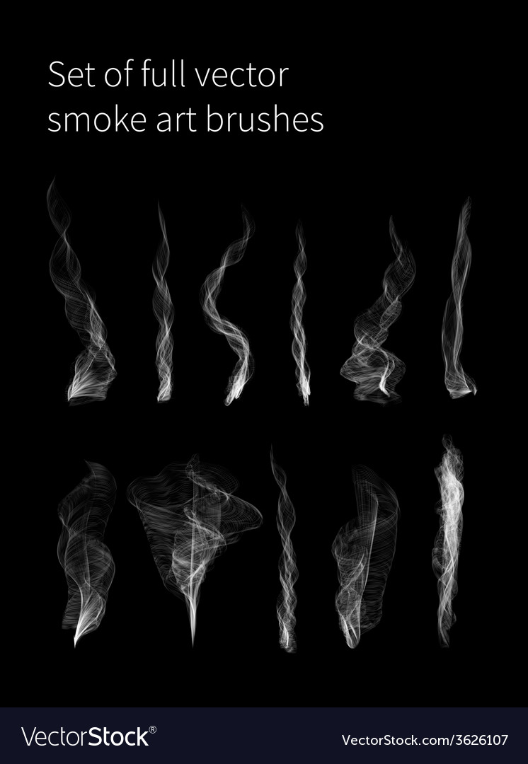 Set of full smoke brushes vector | Price: 1 Credit (USD $1)