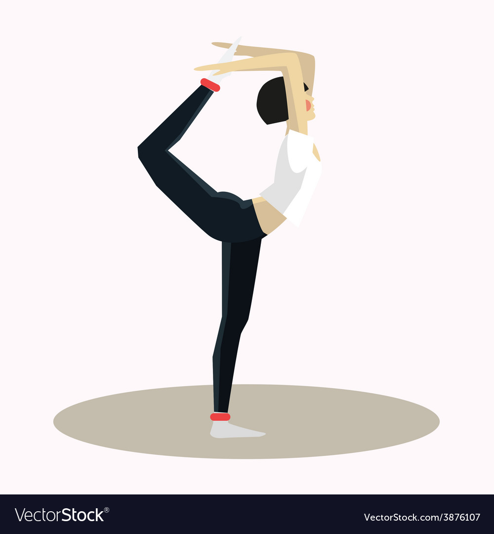 Yoga pose woman silhouette vector | Price: 1 Credit (USD $1)