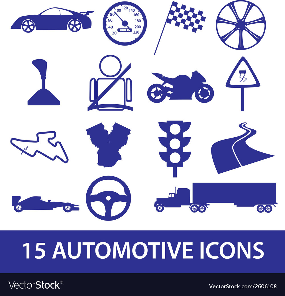 Automotive icon collection eps10 vector | Price: 1 Credit (USD $1)
