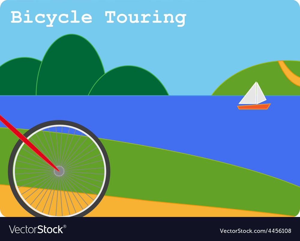 Bicycle touring vector | Price: 1 Credit (USD $1)
