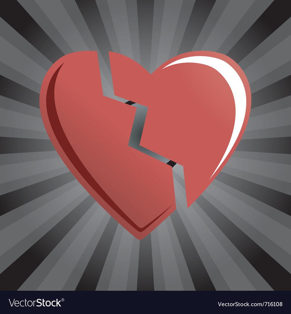 Broken heart vector | Price: 1 Credit (USD $1)