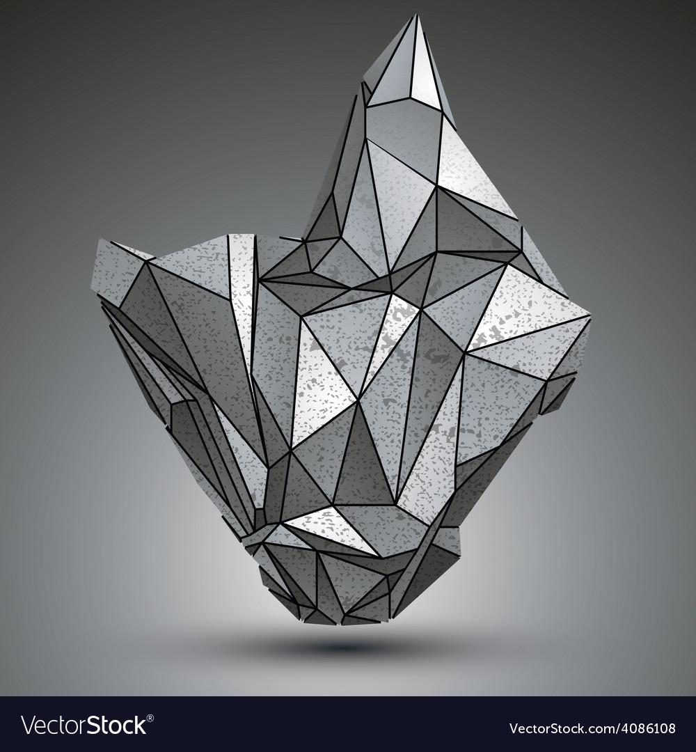 Deformed apex tech zink object 3d complex vector | Price: 1 Credit (USD $1)