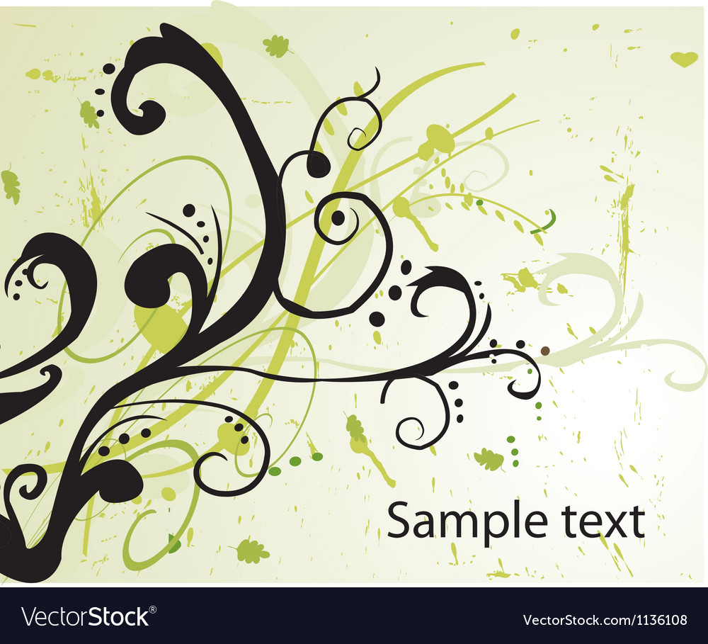 Floral background silhouette vector
