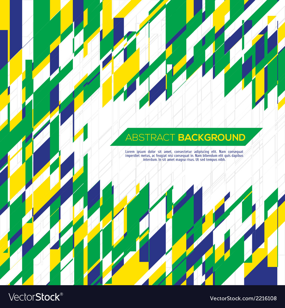 Geometric background in brazil concept vector | Price: 1 Credit (USD $1)