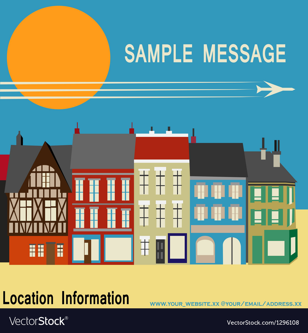 High street shops vector | Price: 1 Credit (USD $1)