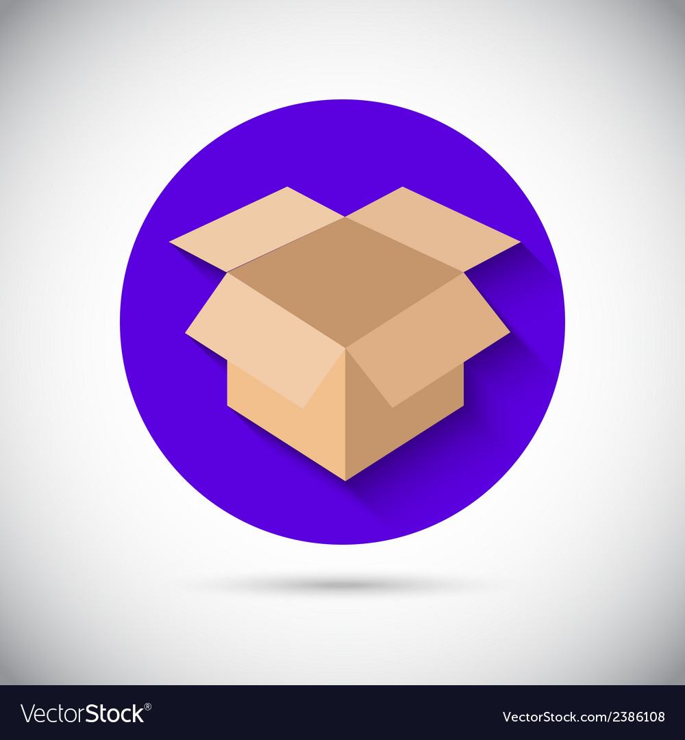 Open box flat icon vector | Price: 1 Credit (USD $1)