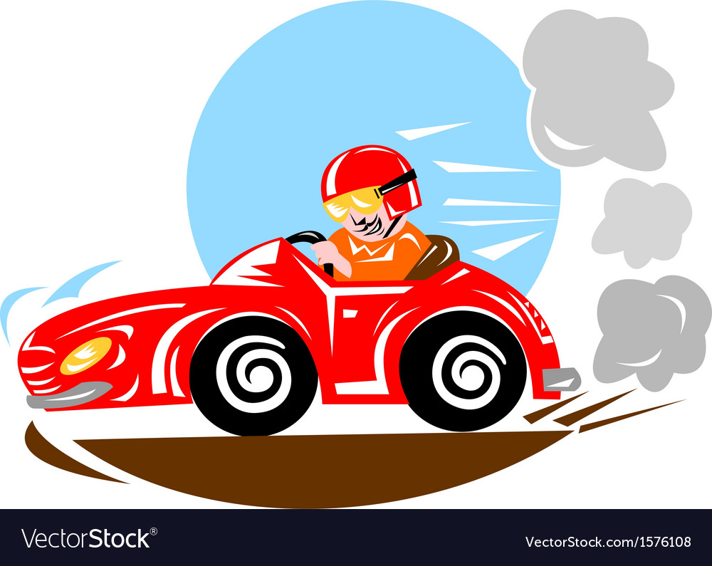 Race car driver vector | Price: 1 Credit (USD $1)
