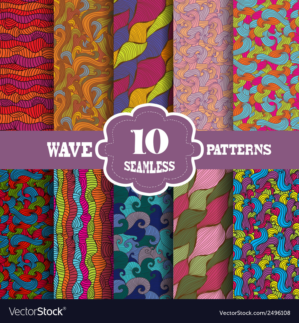Seamless patterns set vector | Price: 1 Credit (USD $1)