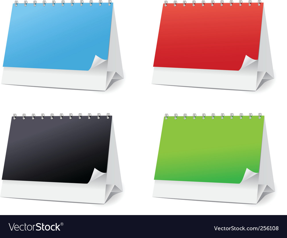 Set blanks for desktop calendars vector | Price: 1 Credit (USD $1)
