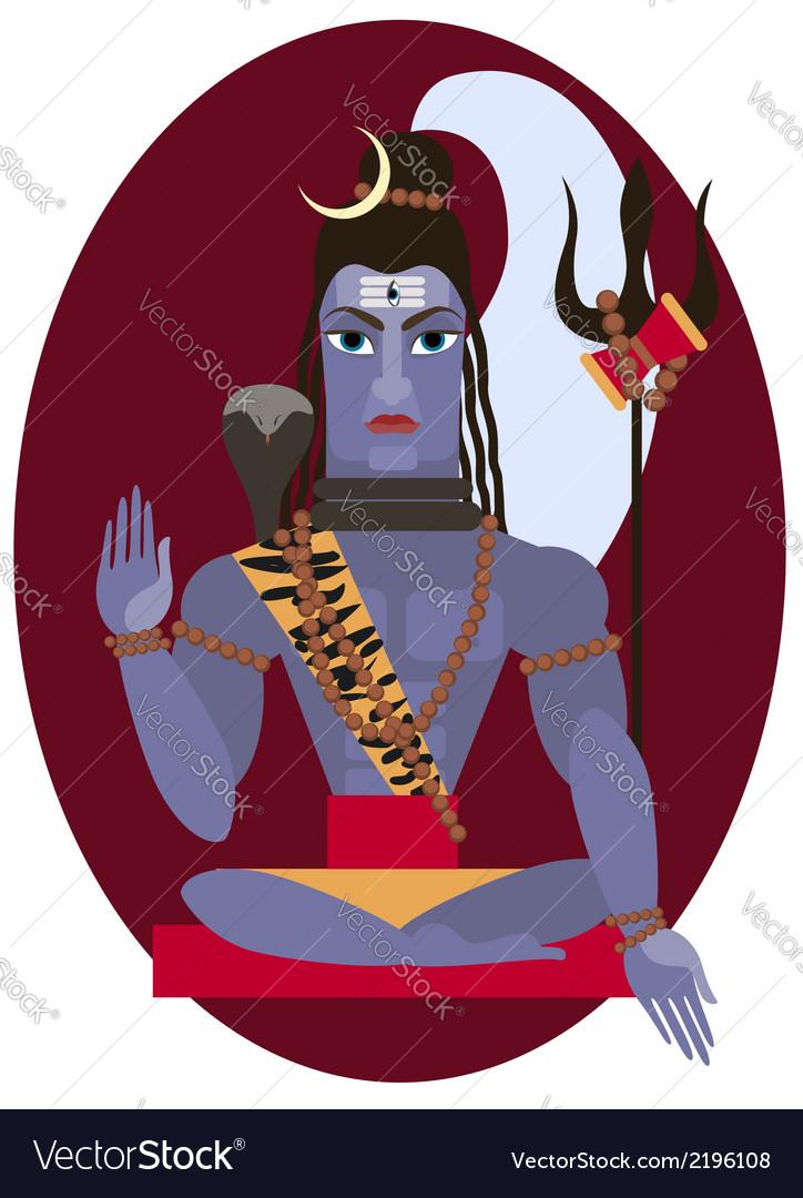 Shiva deity vector | Price: 1 Credit (USD $1)