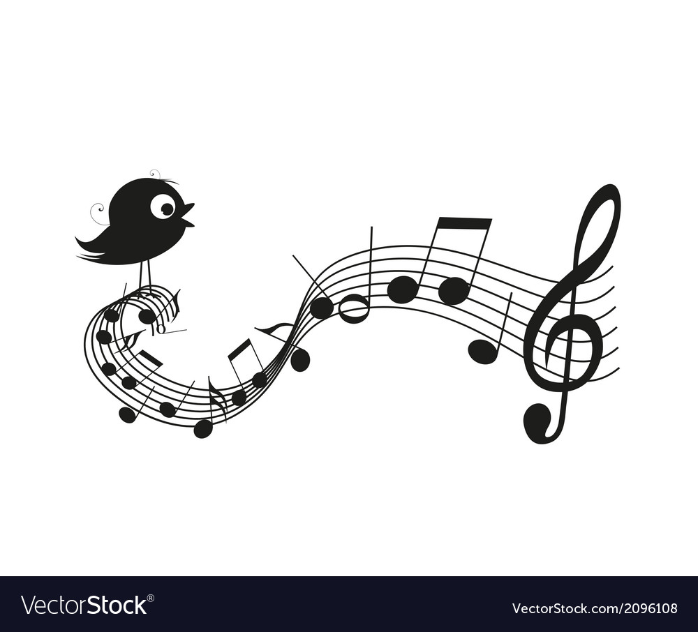 Singing bird vector | Price: 1 Credit (USD $1)