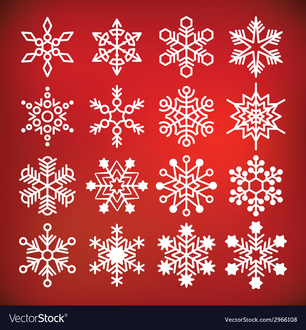 Snowflake collection vector | Price: 1 Credit (USD $1)