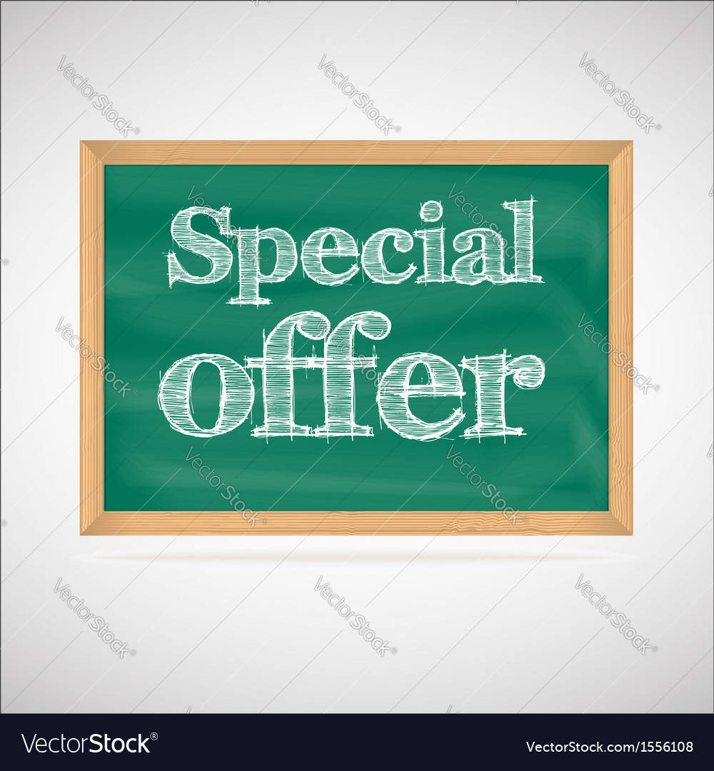 Special offer - the inscription chalk vector | Price: 1 Credit (USD $1)