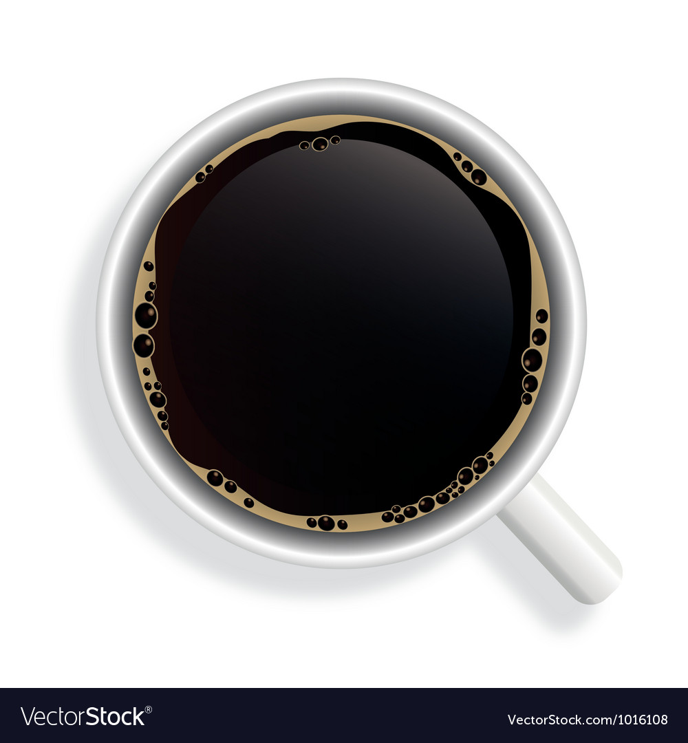 Top view of black coffee cup isolated on white vector | Price: 1 Credit (USD $1)