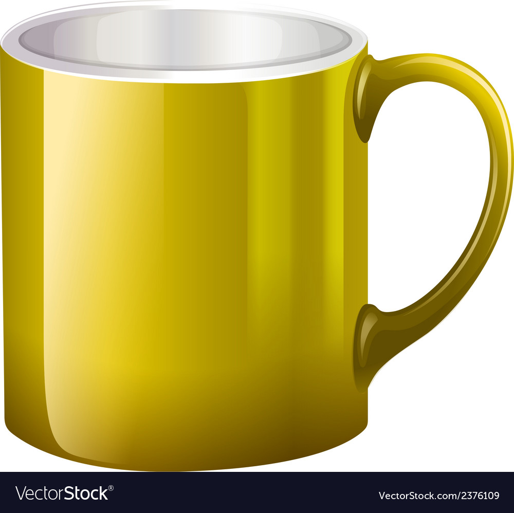 A big yellow mug vector | Price: 1 Credit (USD $1)