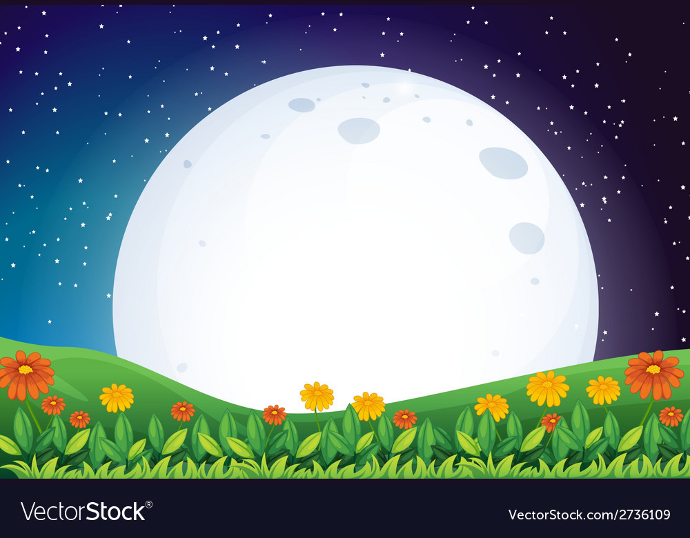 A bright full moon vector | Price: 1 Credit (USD $1)