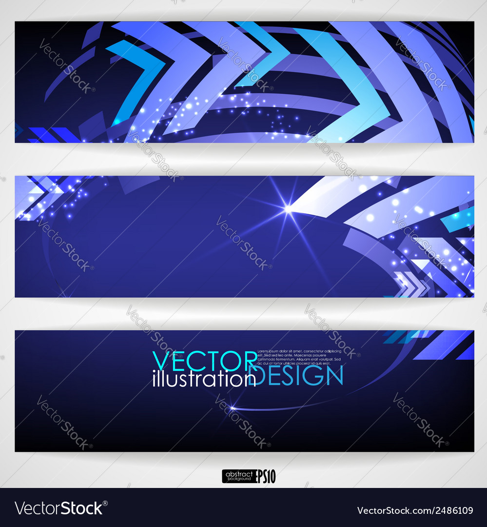 Arrow blue background with place for your text vector | Price: 1 Credit (USD $1)