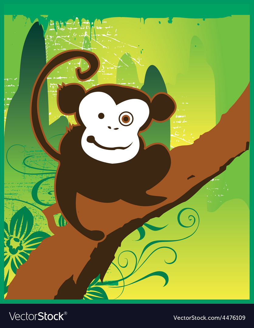 Cartoon monkey vector | Price: 1 Credit (USD $1)