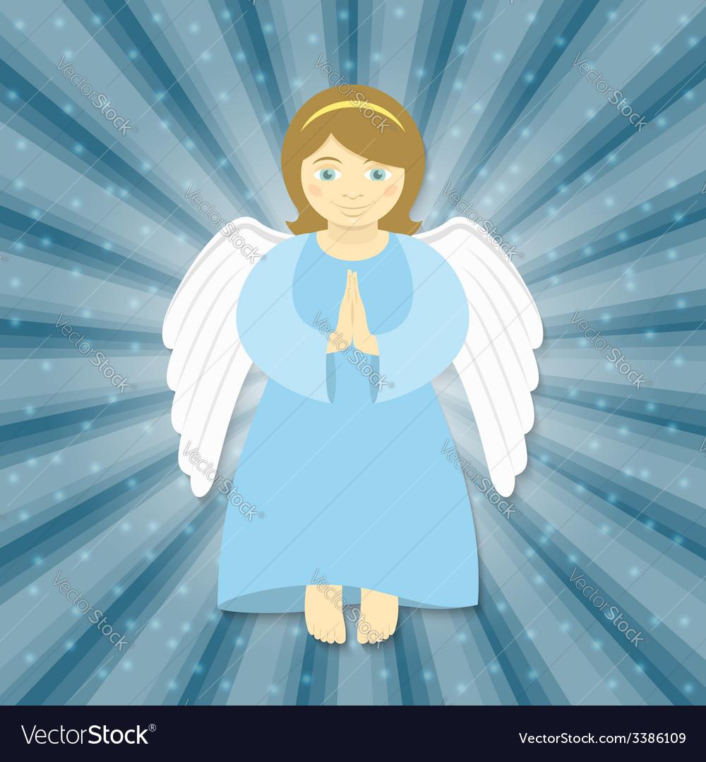 Christmas angel vector | Price: 1 Credit (USD $1)
