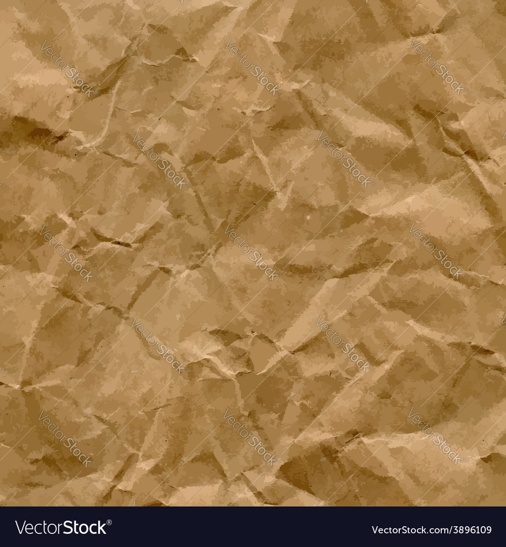 Craft recycled crumpled paper texture vector | Price: 1 Credit (USD $1)