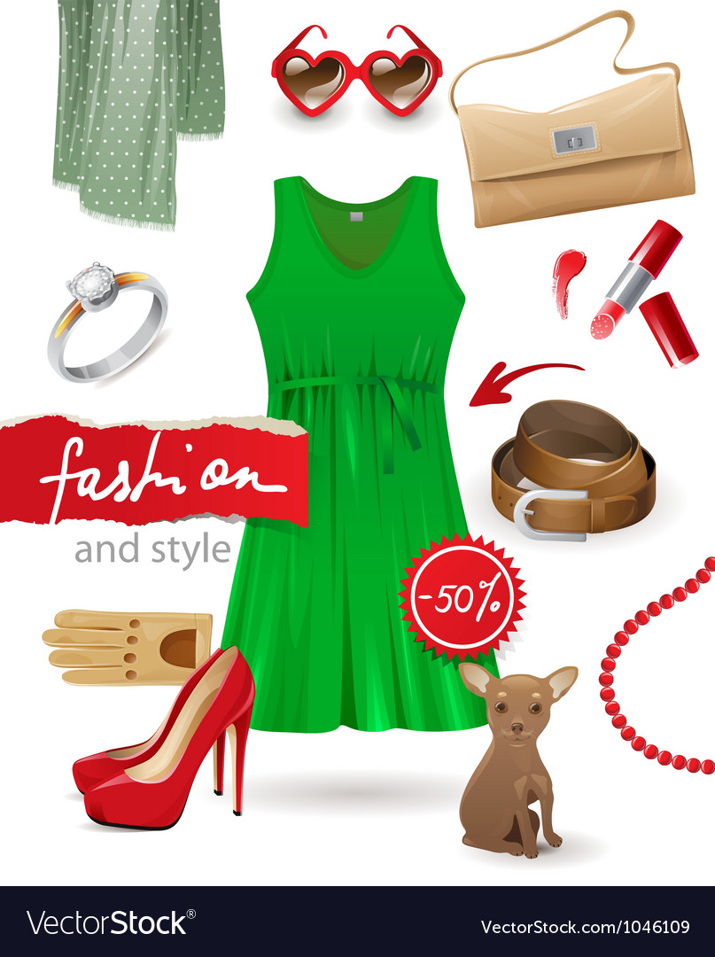 Fashion look vector | Price: 3 Credit (USD $3)