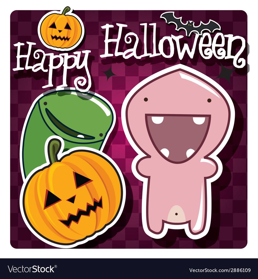 Happy halloween card vector   Price: 1 Credit (USD $1)