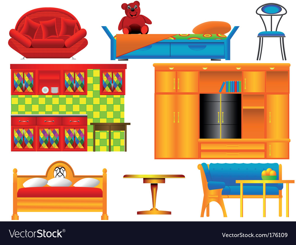 Icons of furniture vector | Price: 1 Credit (USD $1)
