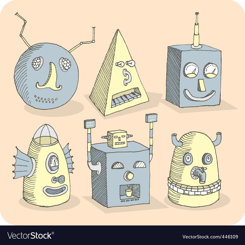 Robotheads vector   Price: 1 Credit (USD $1)